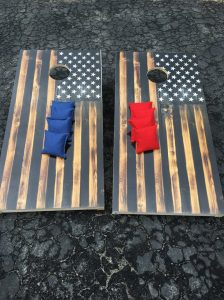 American flag boards